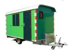 Schaftwagen met toilet