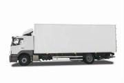 Vrachtwagen met gesloten bak